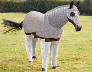horse in bubble wrap